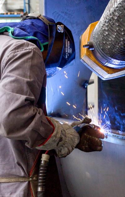 Fan for fumes from welding