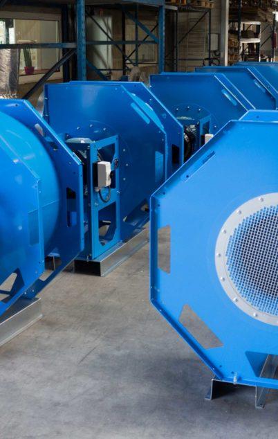 Ventilateur pour l'assainissement des ambiances de travail