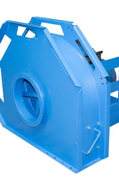 Centrifugal ventilators for wood chips transport